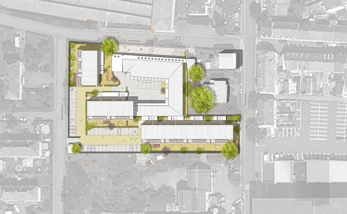 Mongiello & plisson caserne de gendarmerie guebwiller plans