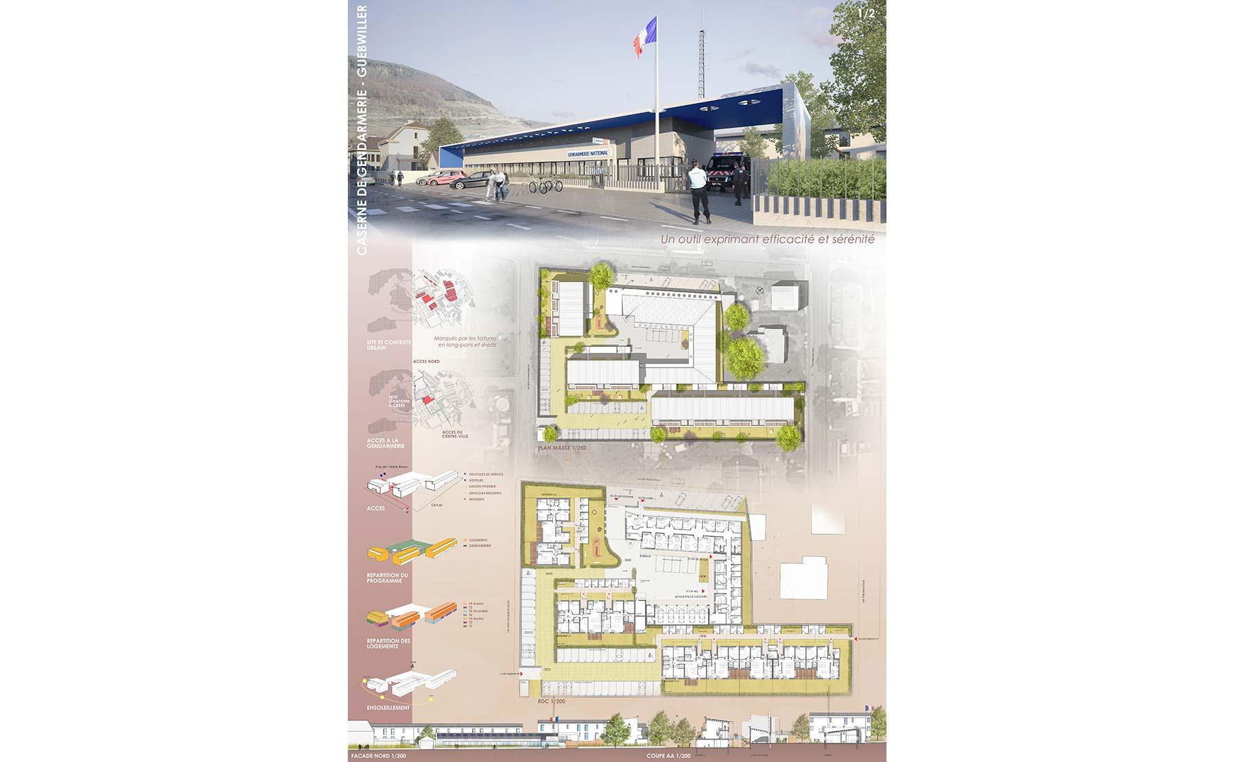 Mongiello & plisson caserne de gendarmerie guebwiller planches